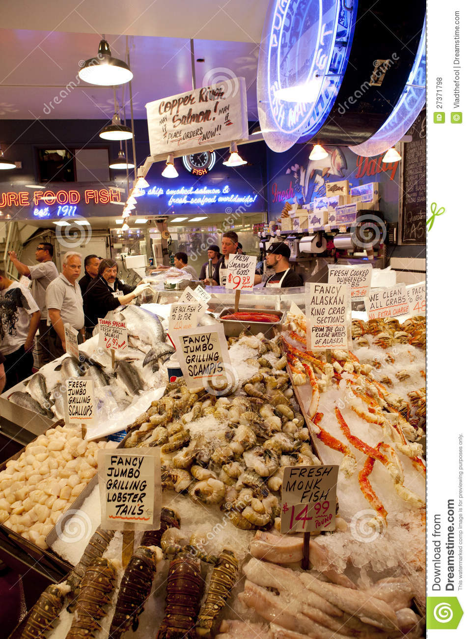 Seattle fish market editorial stock photo image 27371798 for Famous fish market in seattle