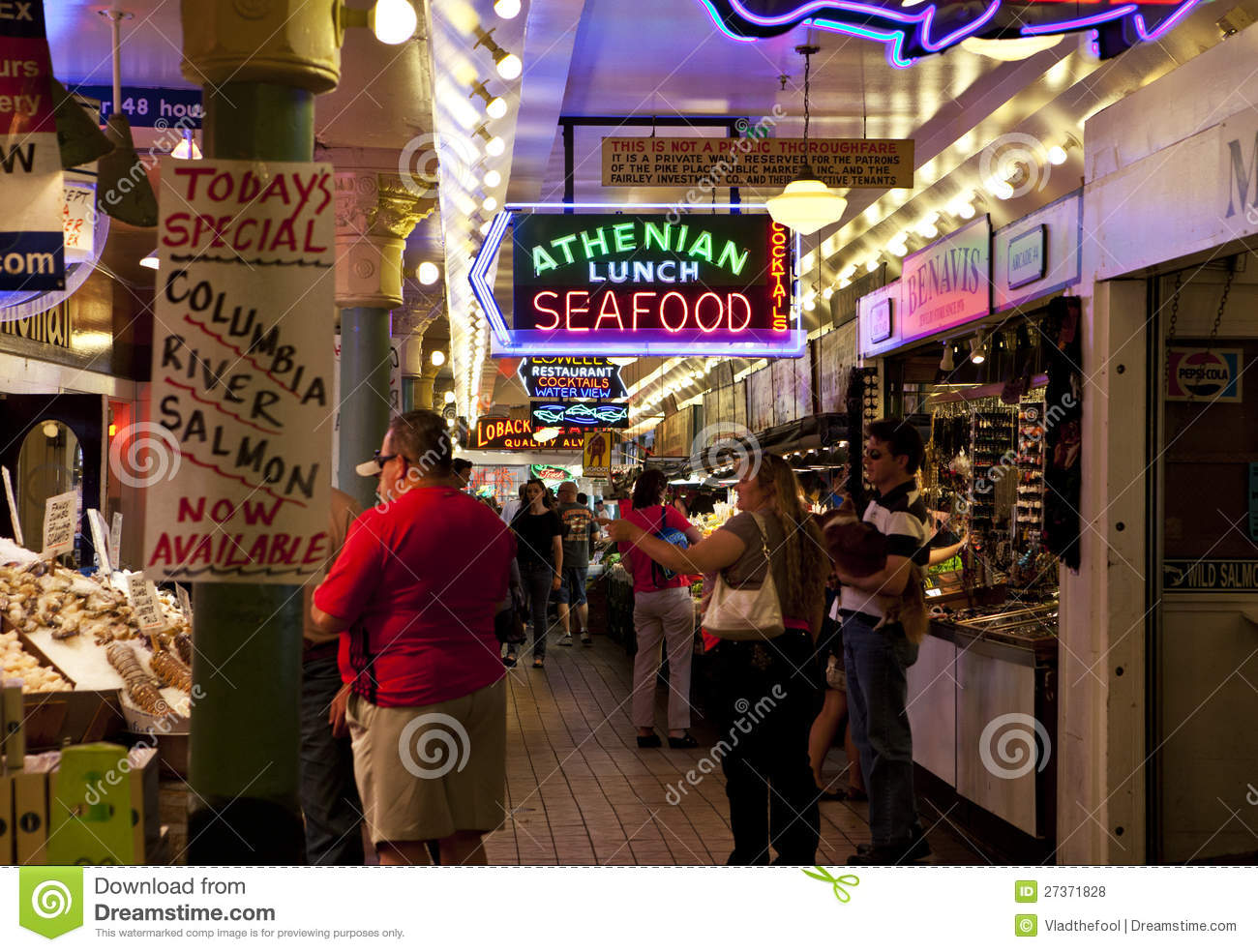 Seattle fish market editorial stock photo image 27371828 for Fish market seattle