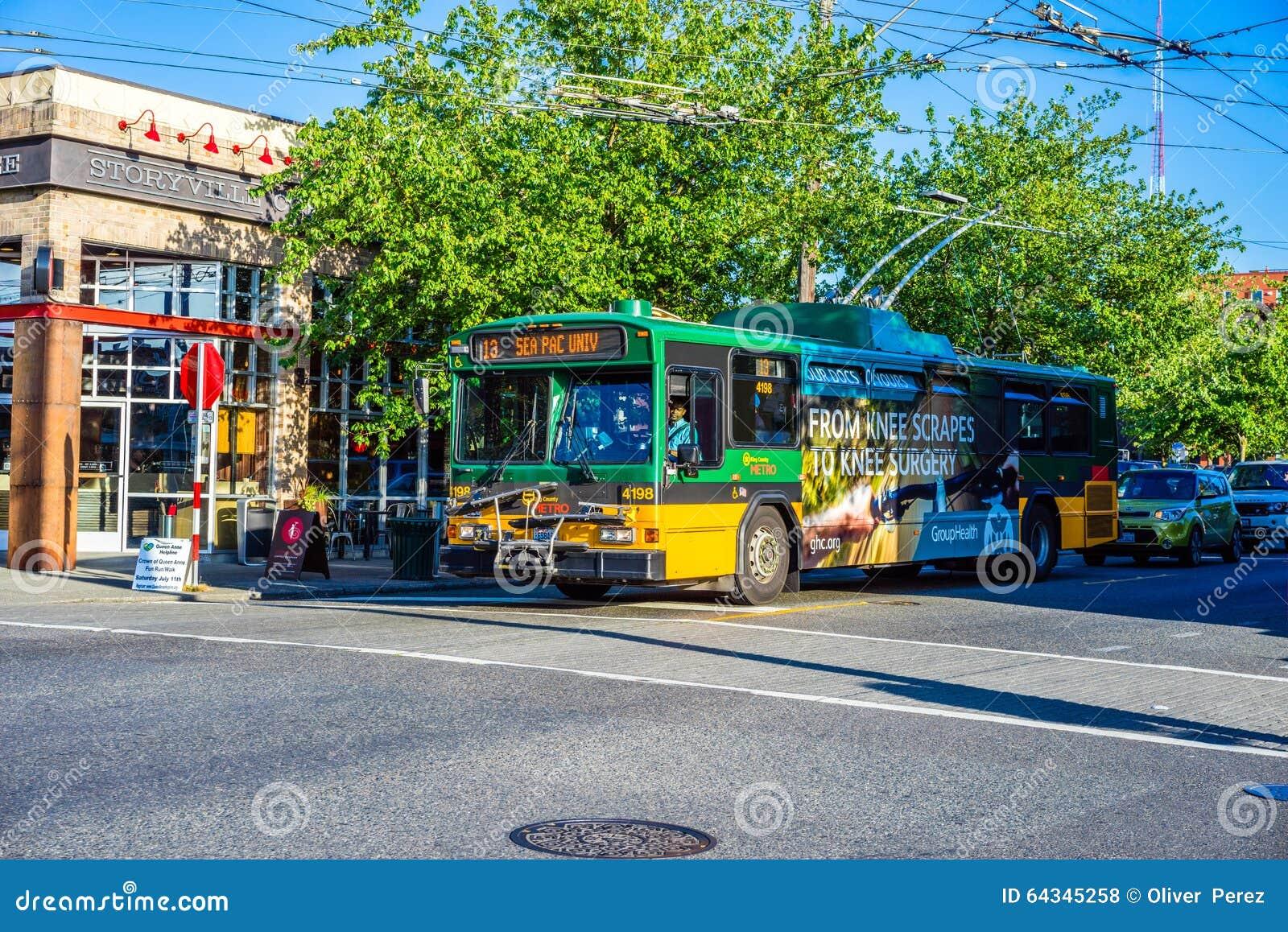Seattle King County Metro Bus Editorial Stock Photo - Image