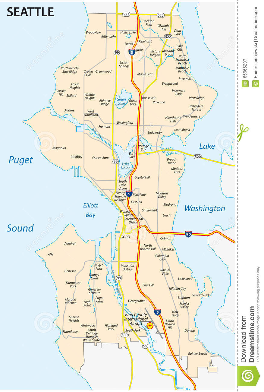 Us Map Seattle.Seattle Map Usa Map Guide 2016