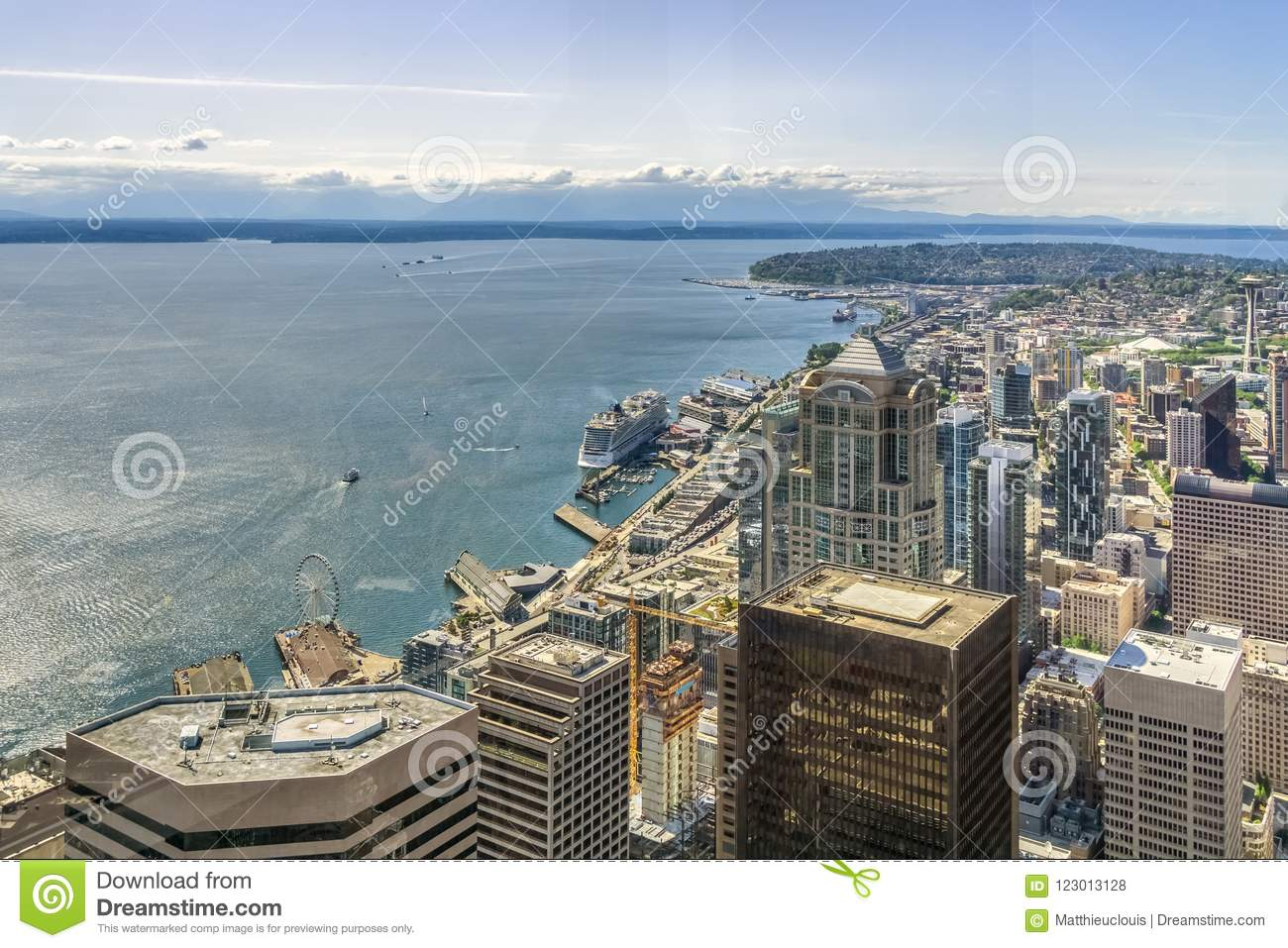 Seattle Skyline. Aerial view of Seattle