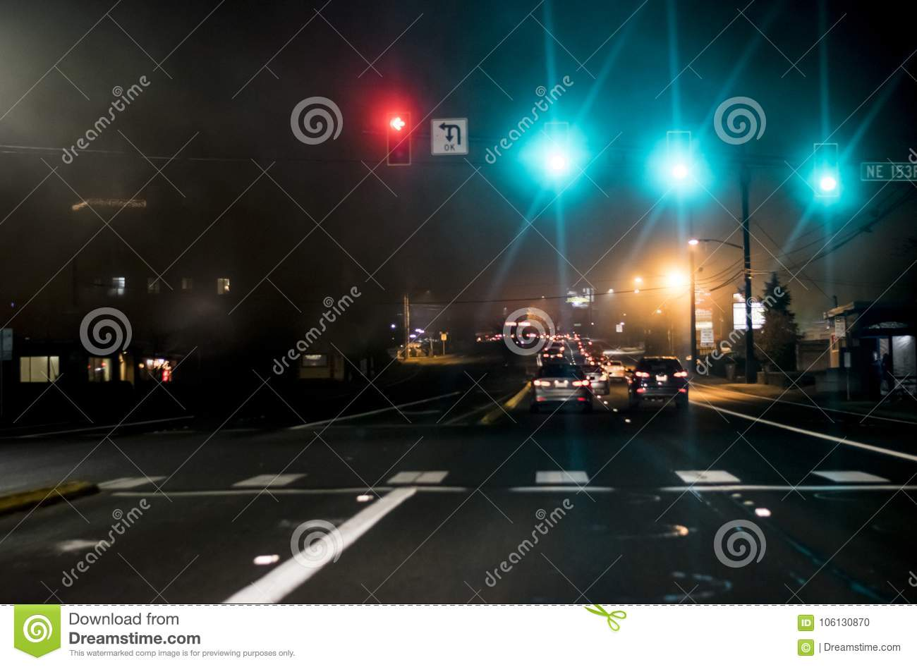 Seattle Traffic at night 5 stock photo  Image of space