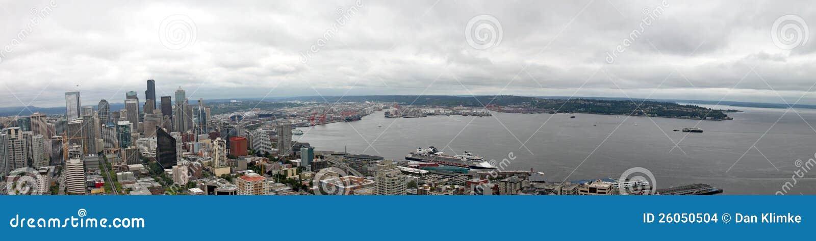 Seattle w centrum Panorama Waszyngton