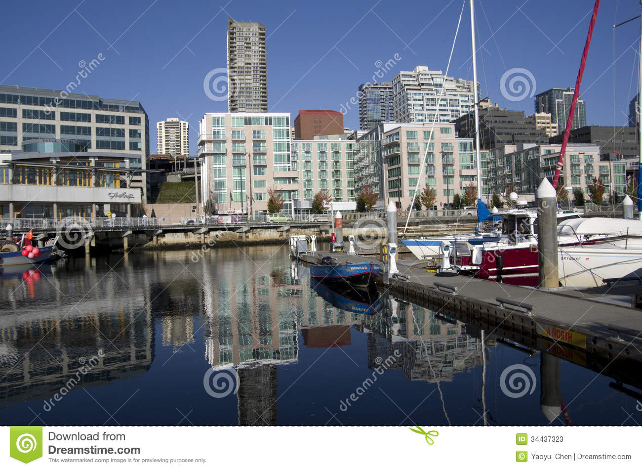 Seattle waterfront housing editorial stock photo image for Nice places to live