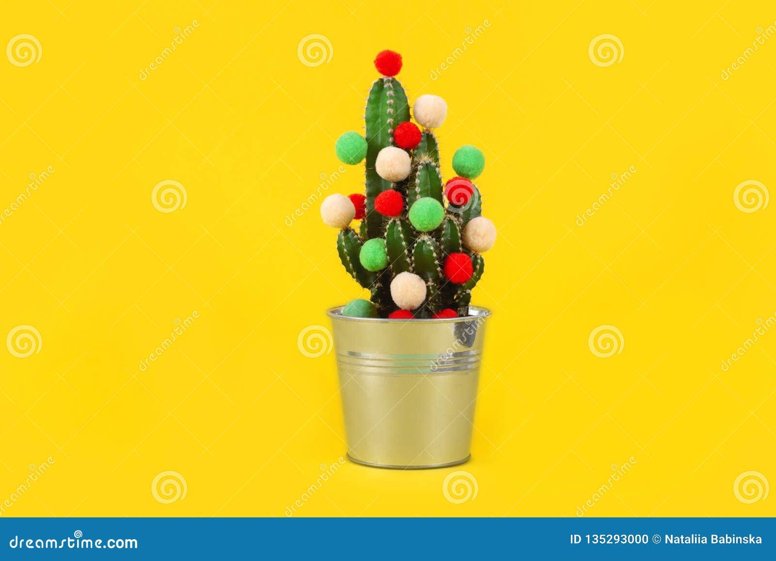 Seau Drole De Saint Valentin De Noel D Arbre De Cactus De Fond De