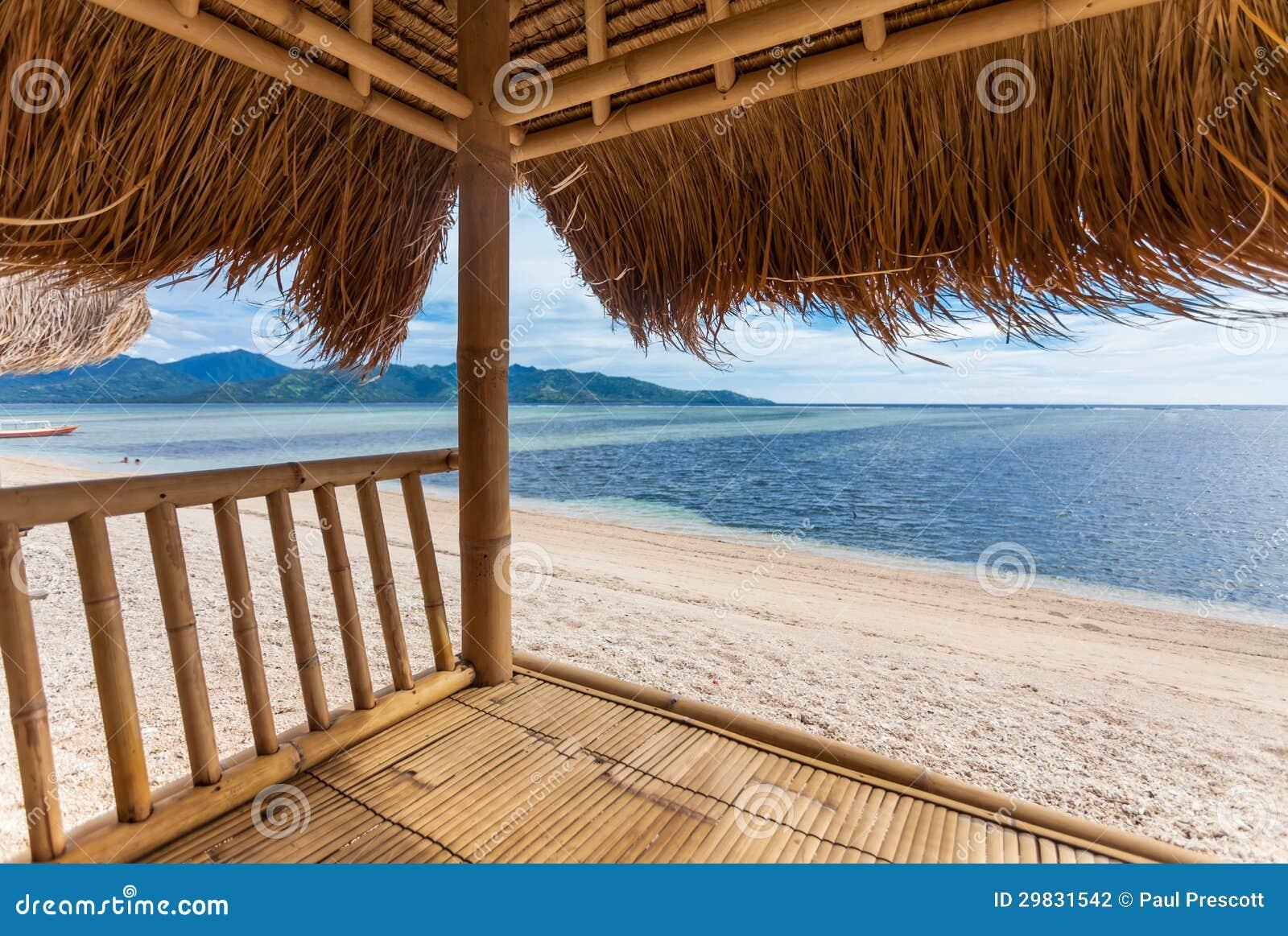 Seaview da cabana de bambu
