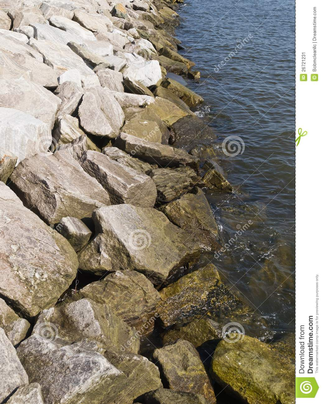 Seawall Rocks Stock Image Image Of Rap Protection Water