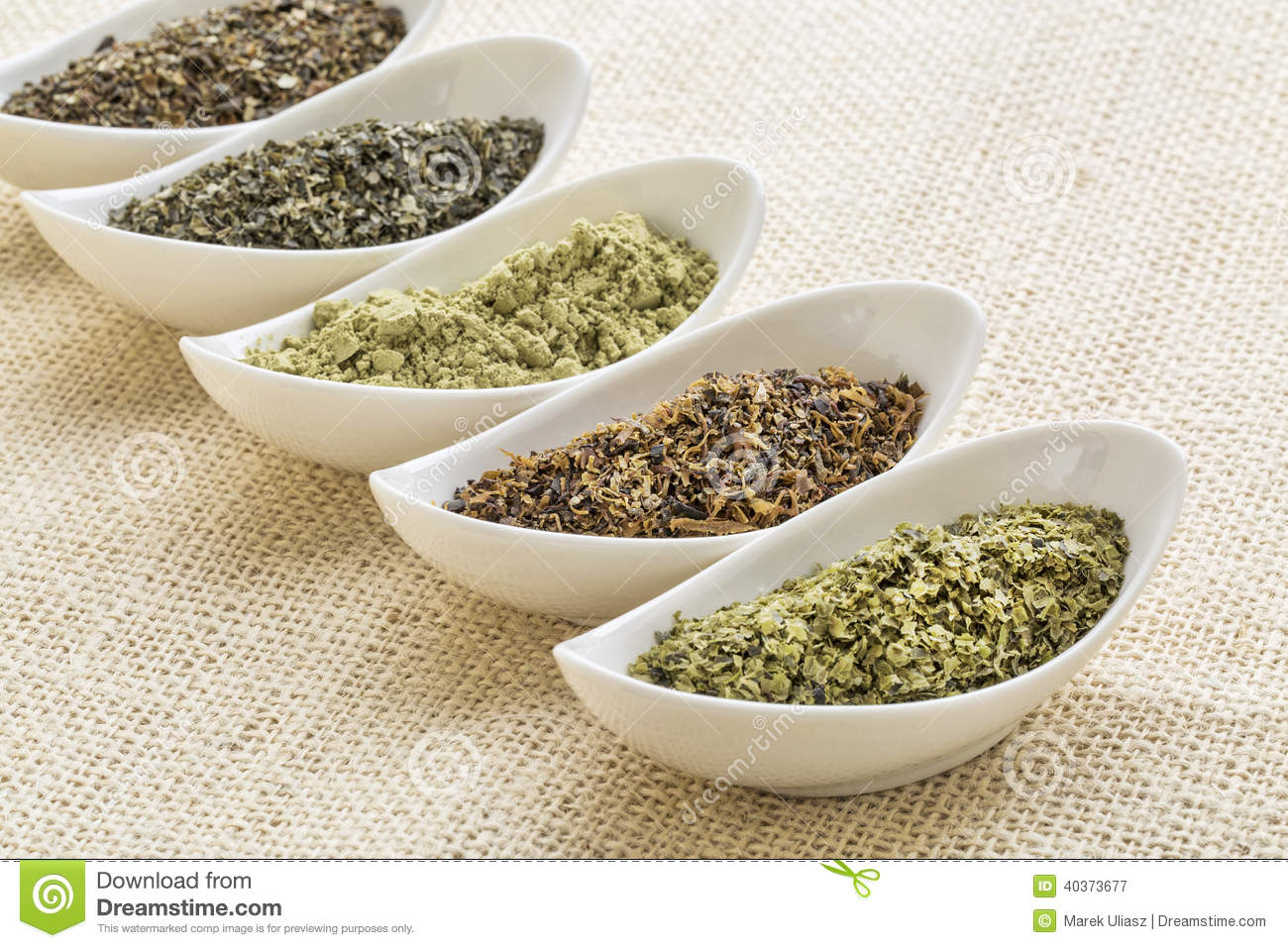 Seaweeds Diet Supplements Stock Image Image Of Moss Ceramic