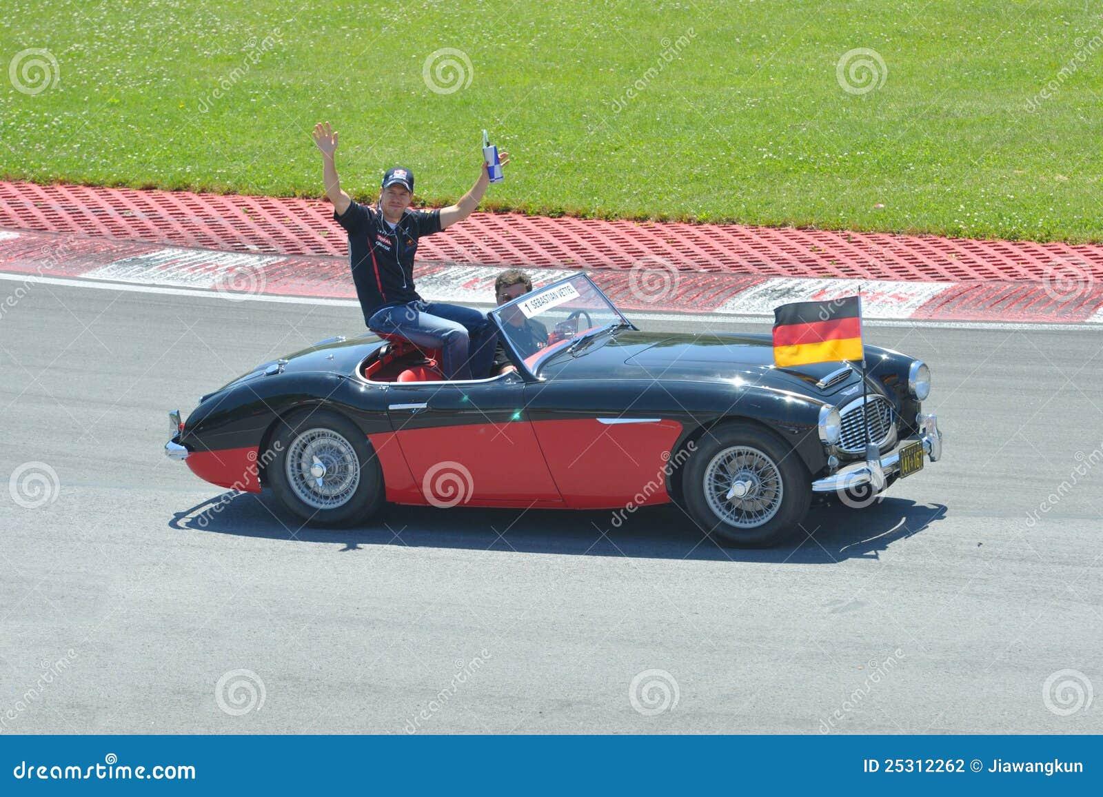 Sebastian Vettel in 2012 F1 kanadisches großartiges Prix