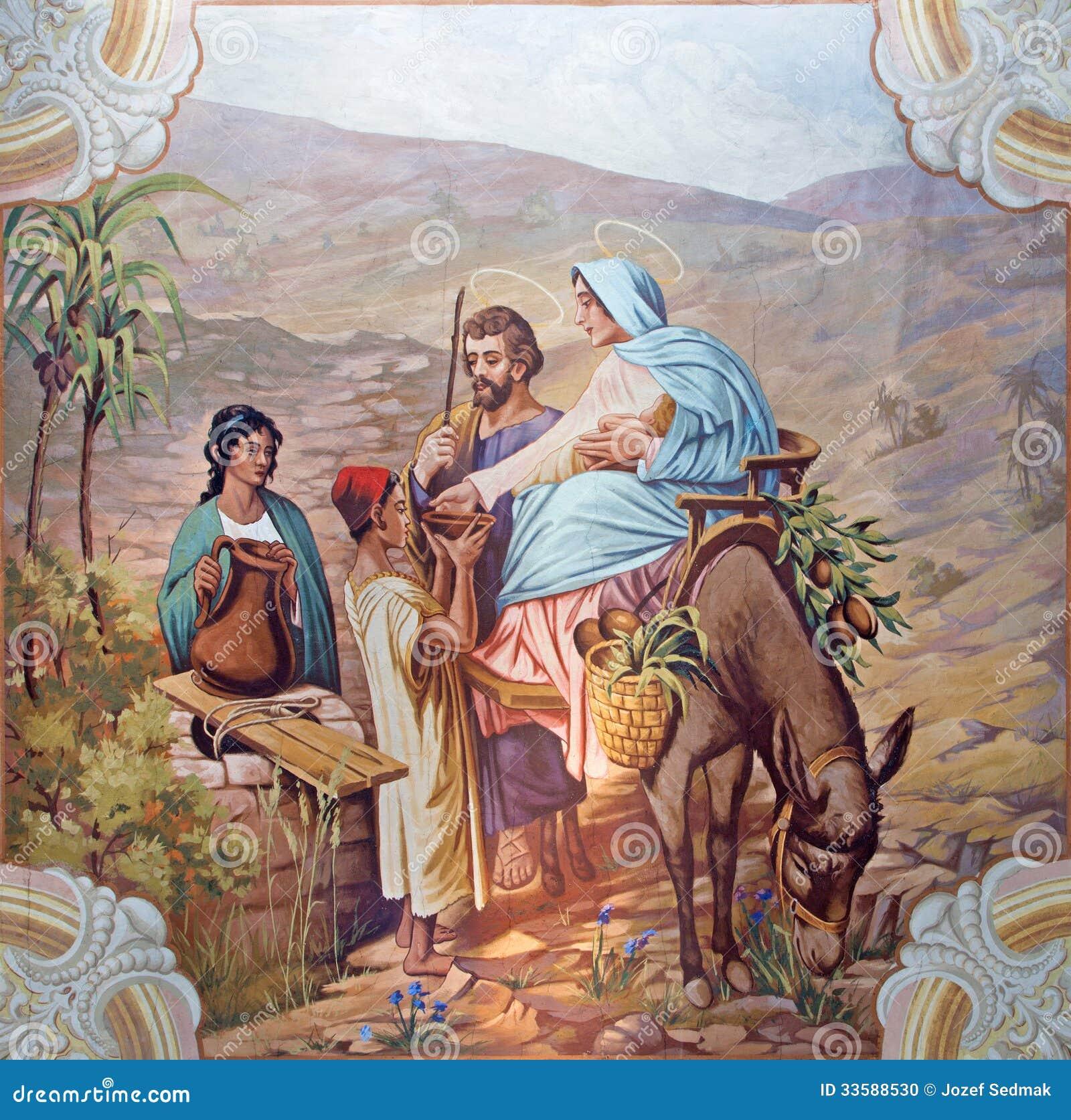 Sebechleby - Vlucht aan de fresko van Egypte