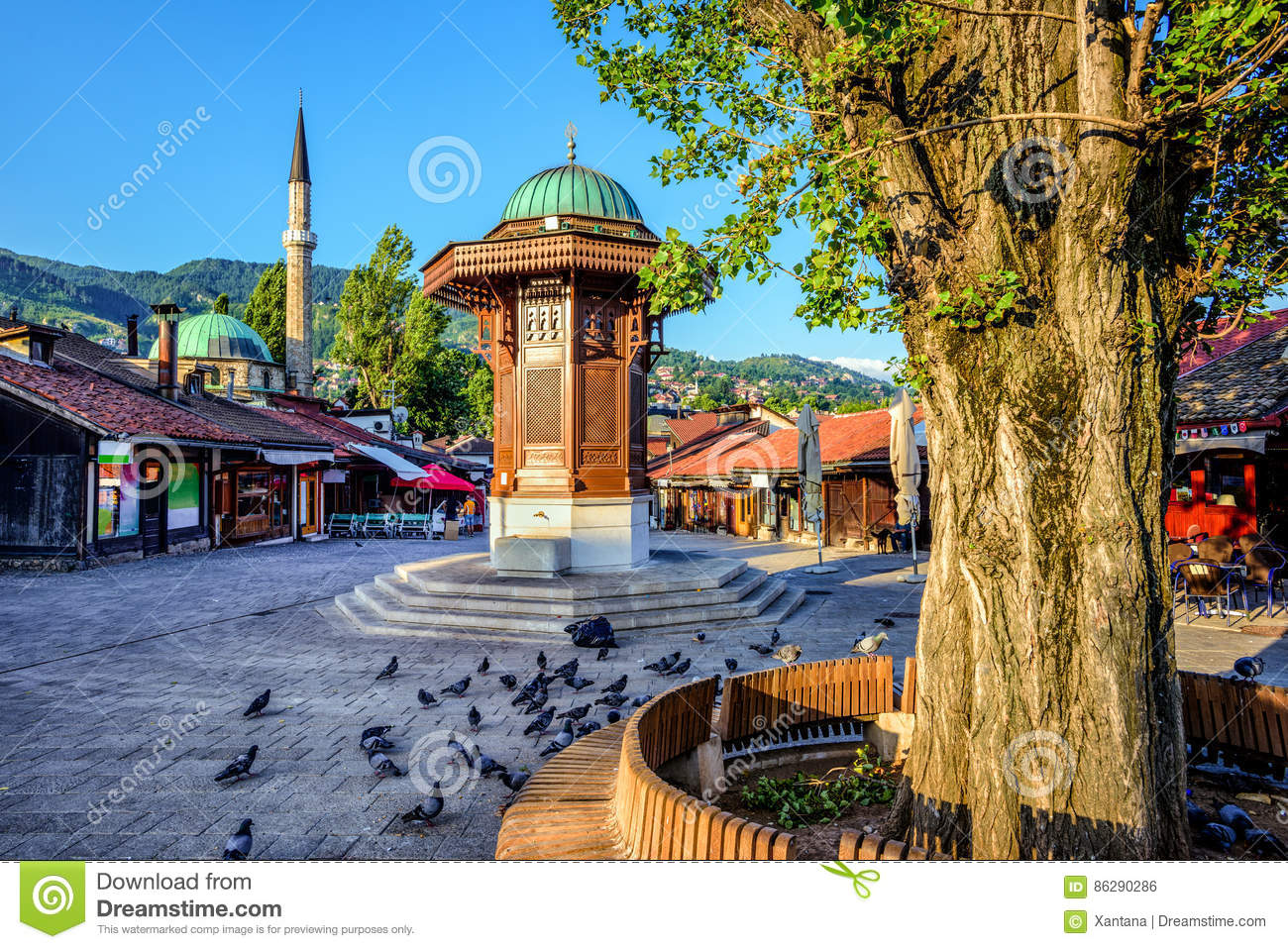 Sebilj fountain in the Old Town of Sarajevo, Bosnia