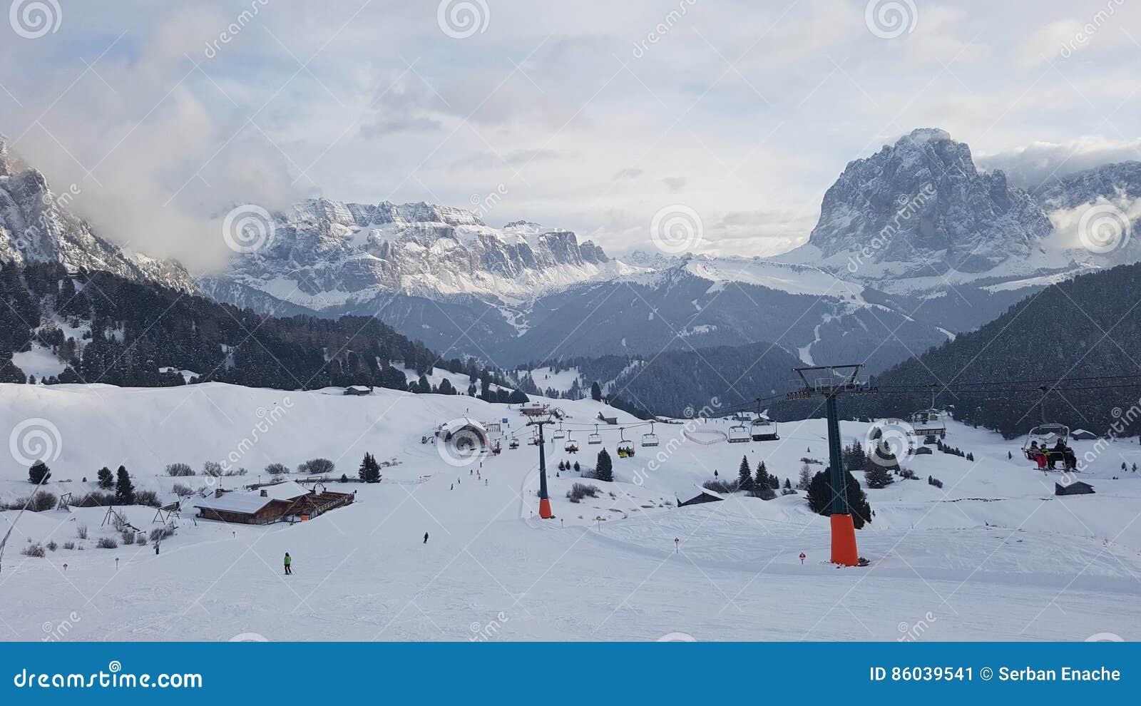 Secada滑雪胜地在冬天