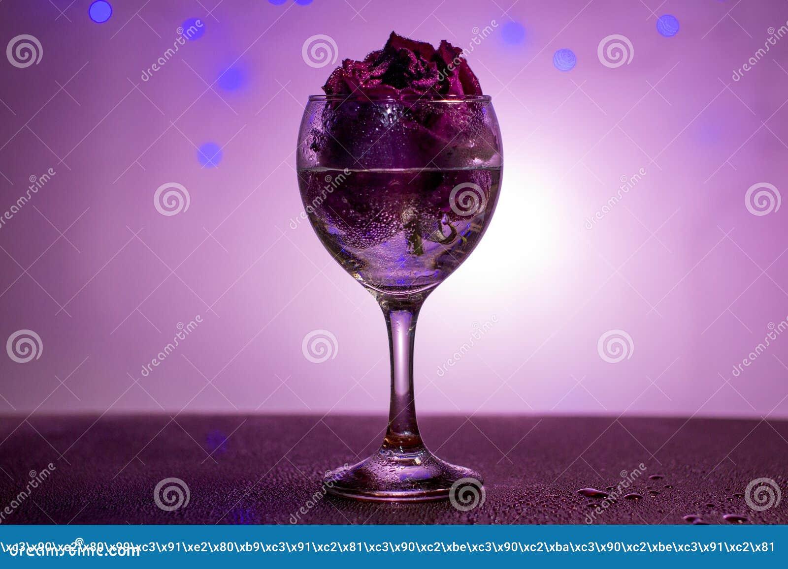 Secado subió en una copa de vino