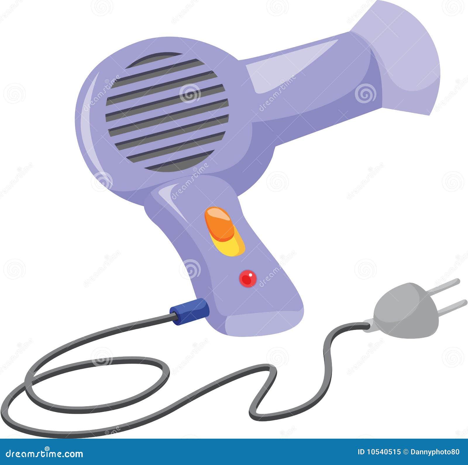Animated Hair Dryer ~ Secador de cabelo foto stock royalty free imagem