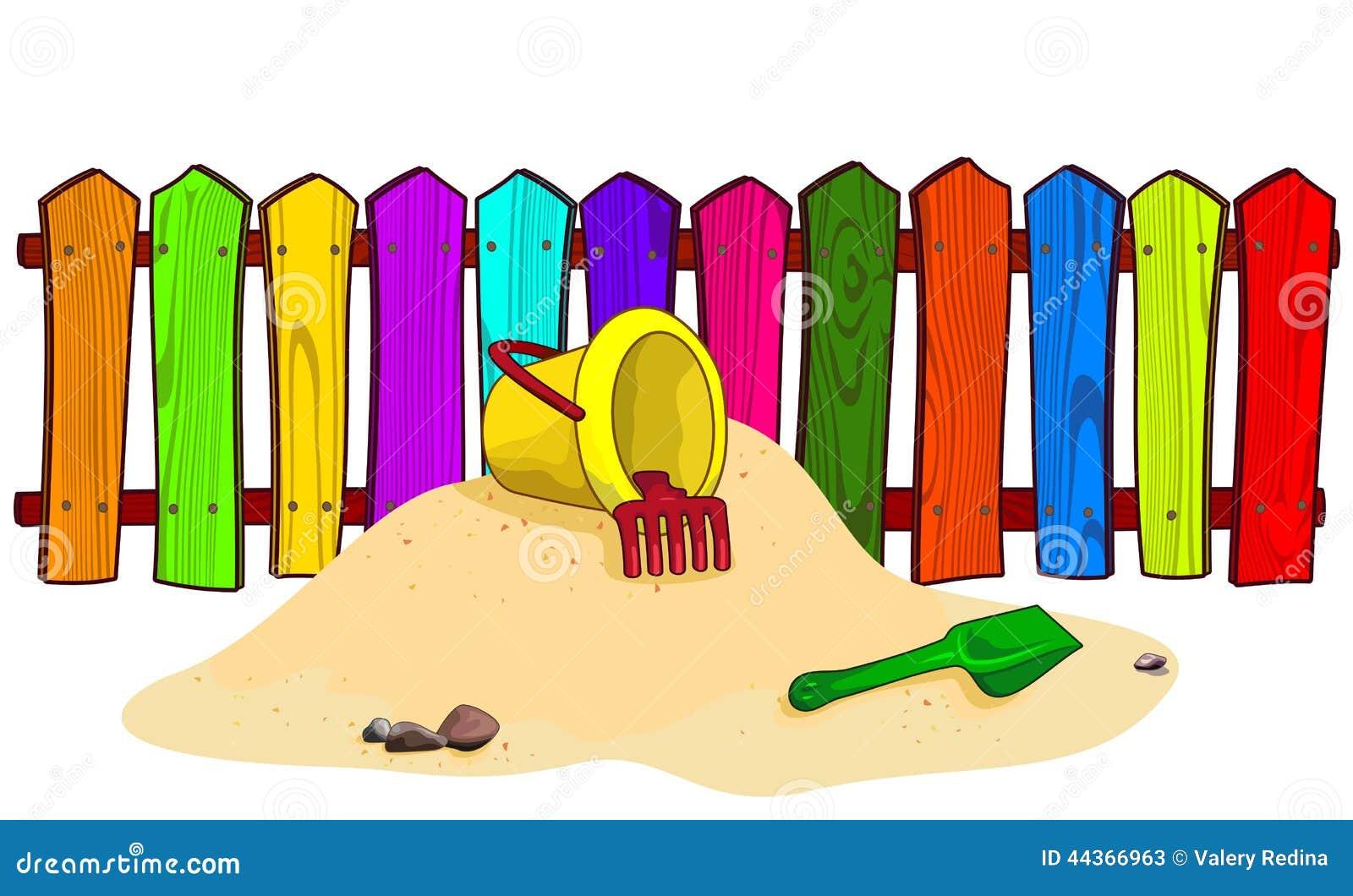 Secchio e pala sulla sabbia