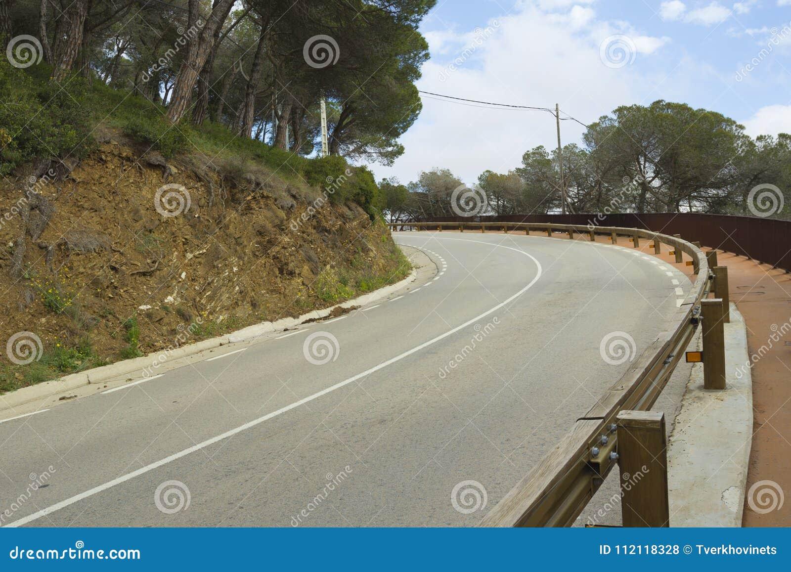 Sección de camino peligrosa