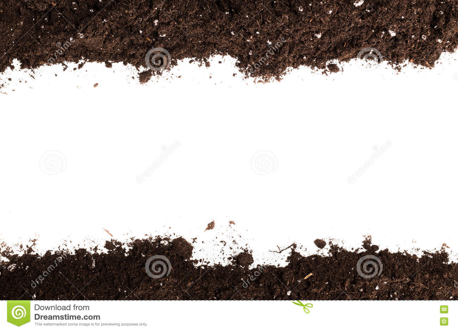 Sección del suelo o de la suciedad