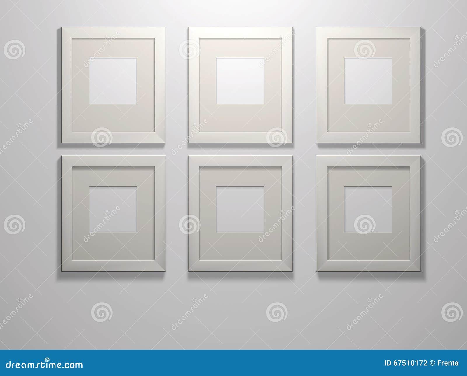 Sechs Bilderrahmen stock abbildung. Illustration von feld - 67510172