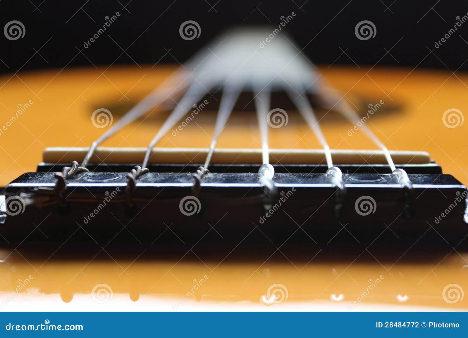 Sechs klassische Gitarre der Zeichenketten
