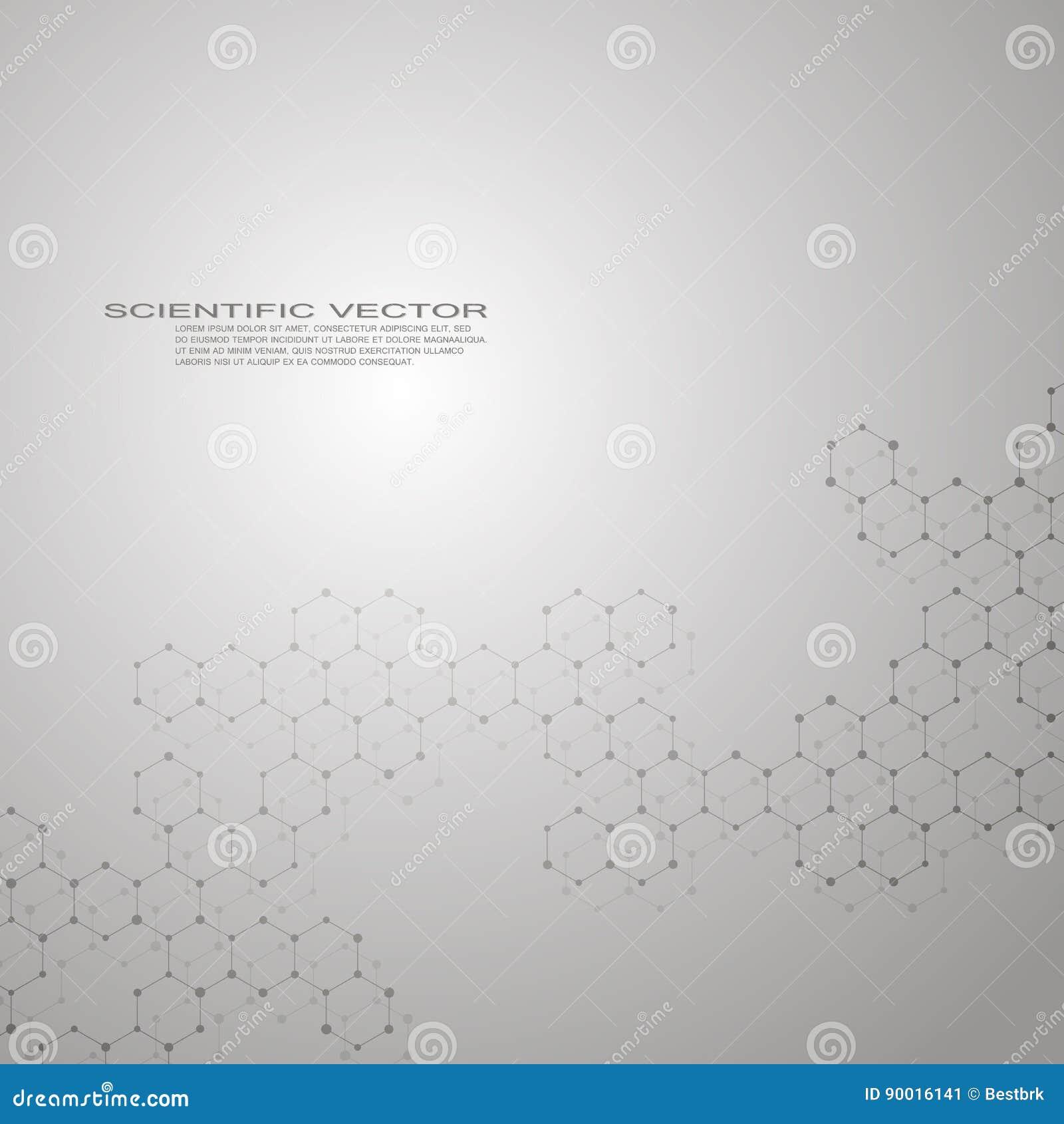 Sechseckige Molekül Dna Molekülstruktur Des Neuronsystems