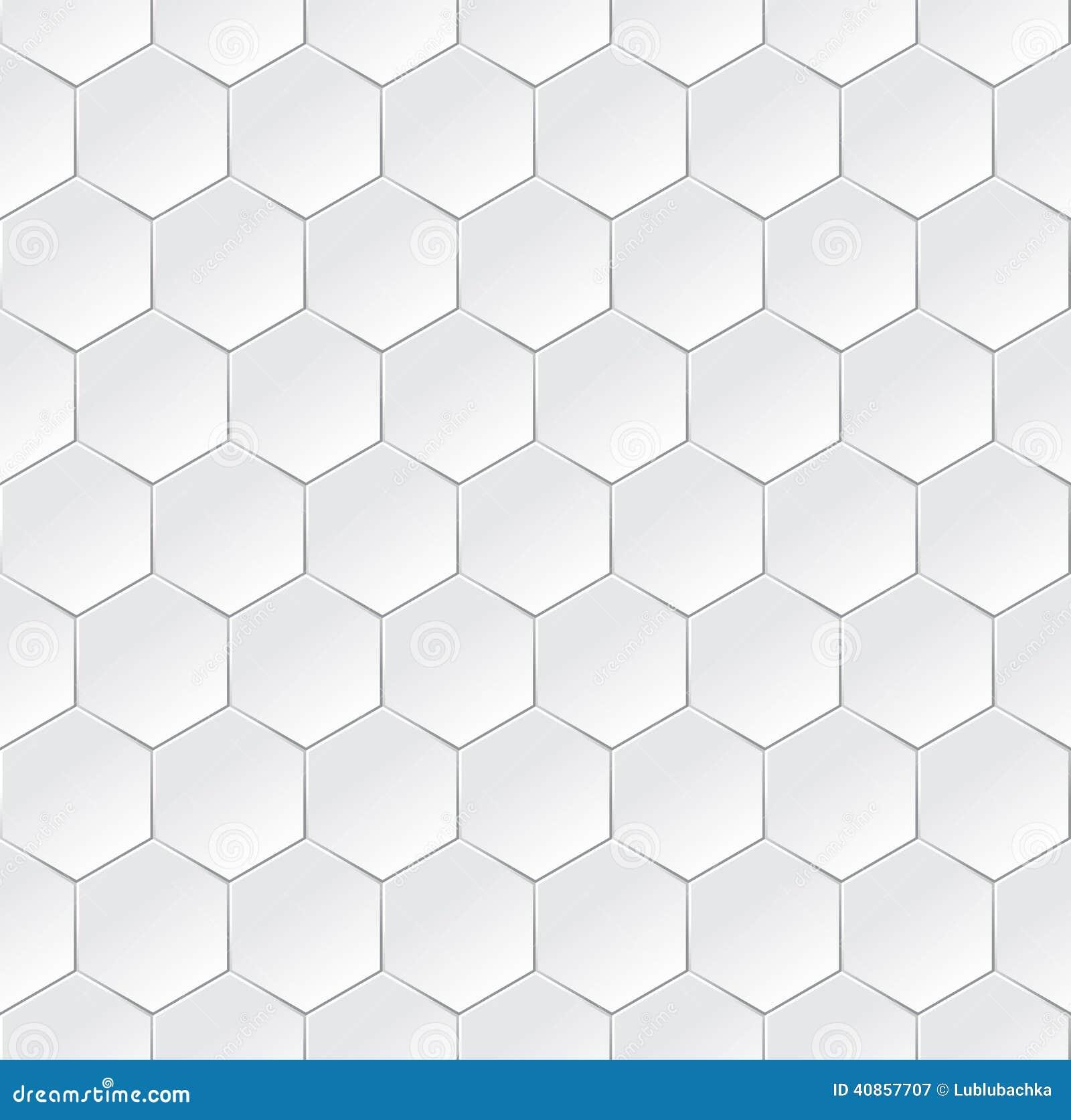 Sechseckiger weißer semless Hintergrund mit Effekt 3d