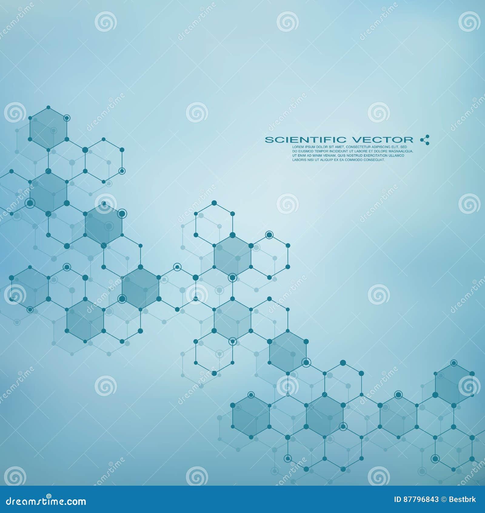 Sechseckiges Molekül Molekulare Struktur Genetisch Und