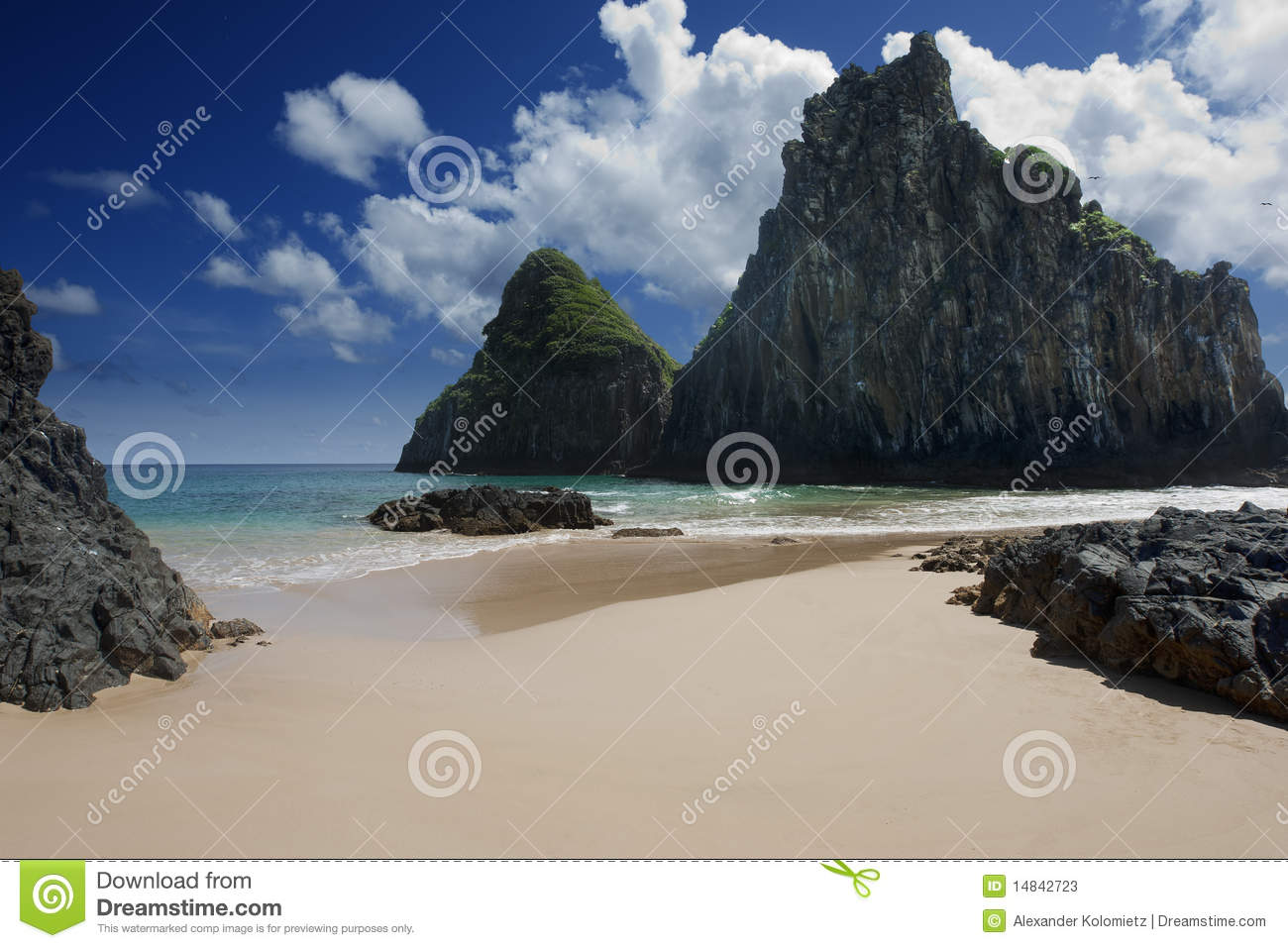 Download Secluded Beach stock image. Image of quietness, clear - 14842723