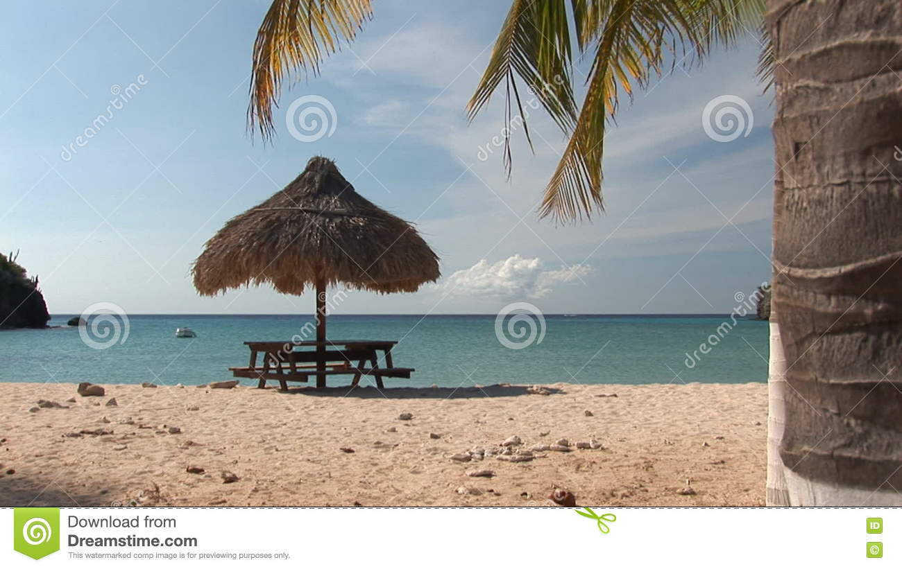 Secluded beach on Curacao stock video  Video of shadow - 73179679