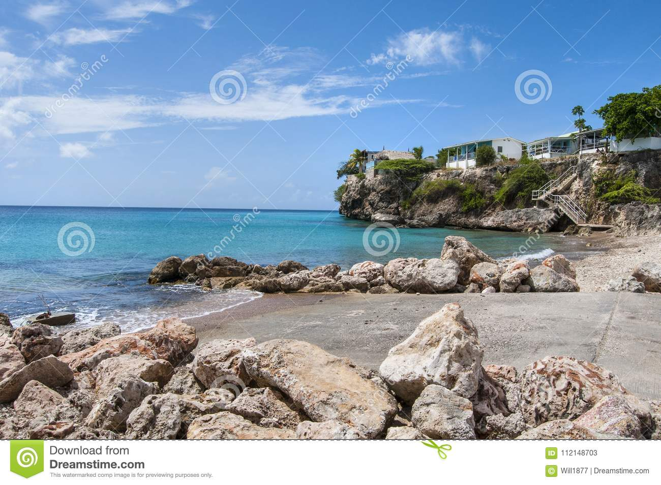 San Pedro Beach In Caribbean Stock Image - Image of shore, pedro