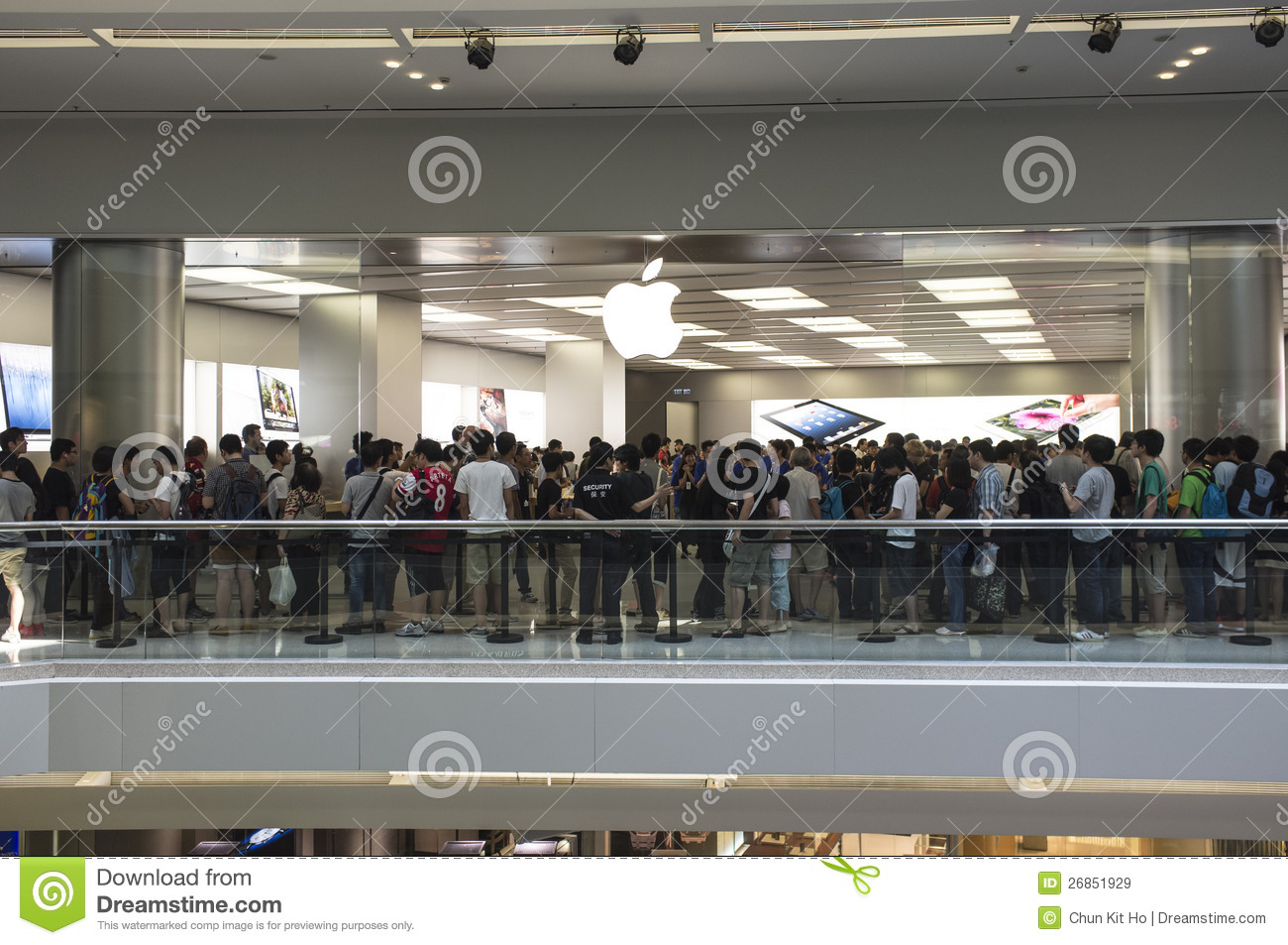 Second Apple Store Of Hong Kong Editorial Stock Image