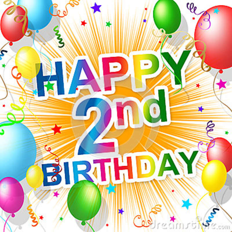 Second Birthday Shows Congratulating Celebrate And
