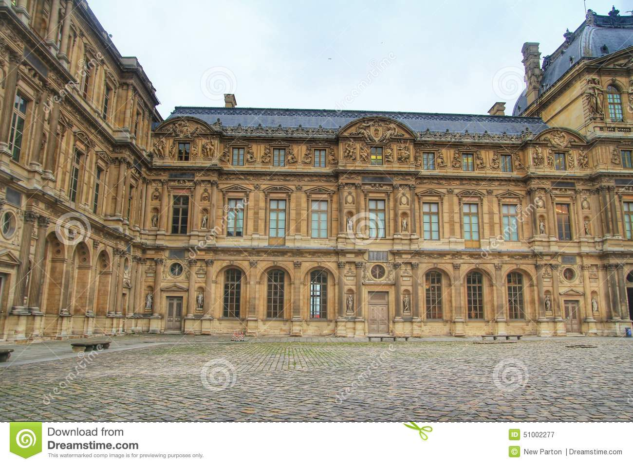 The second court of the louvre museum louvre paris france stock photo im - Construction of the louvre ...