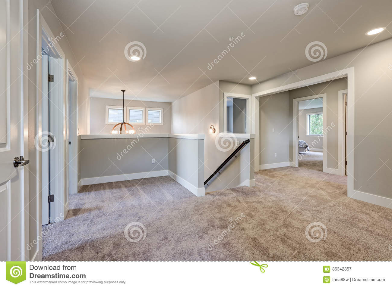 Second floor landing with grey walls paint color stock Paint colors that go with grey flooring