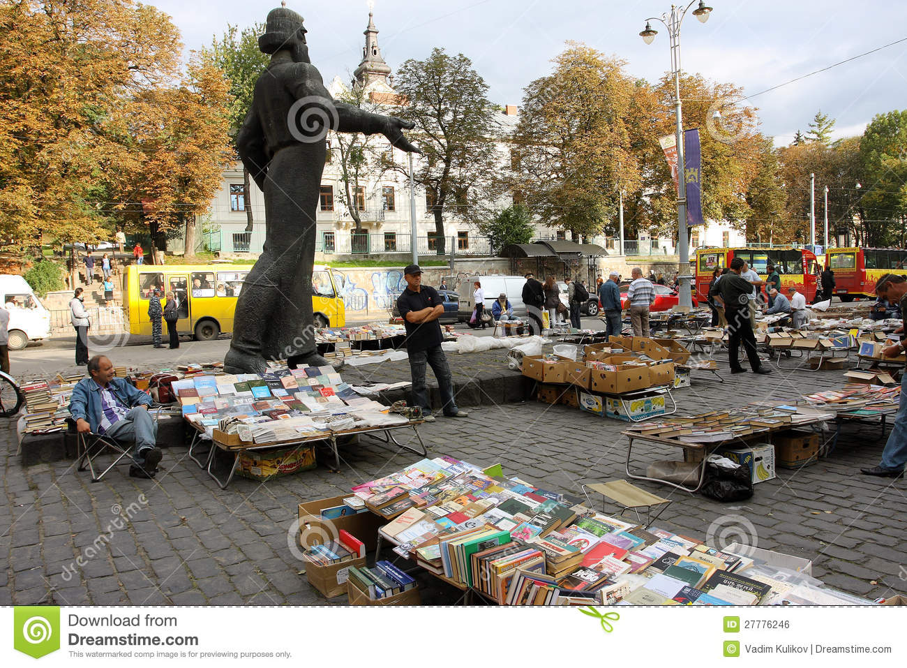 Second-hand Book Market Outdoor Editorial Photo - Image of