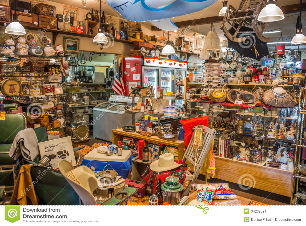 Second Hand Country Store Interior