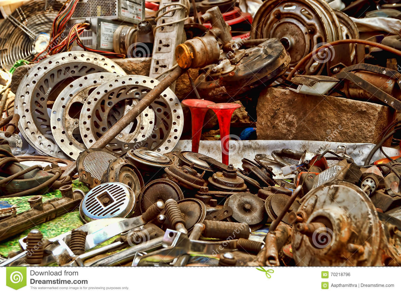 Second Hand Pistons And Gears Stock Photo - Image: 70218796