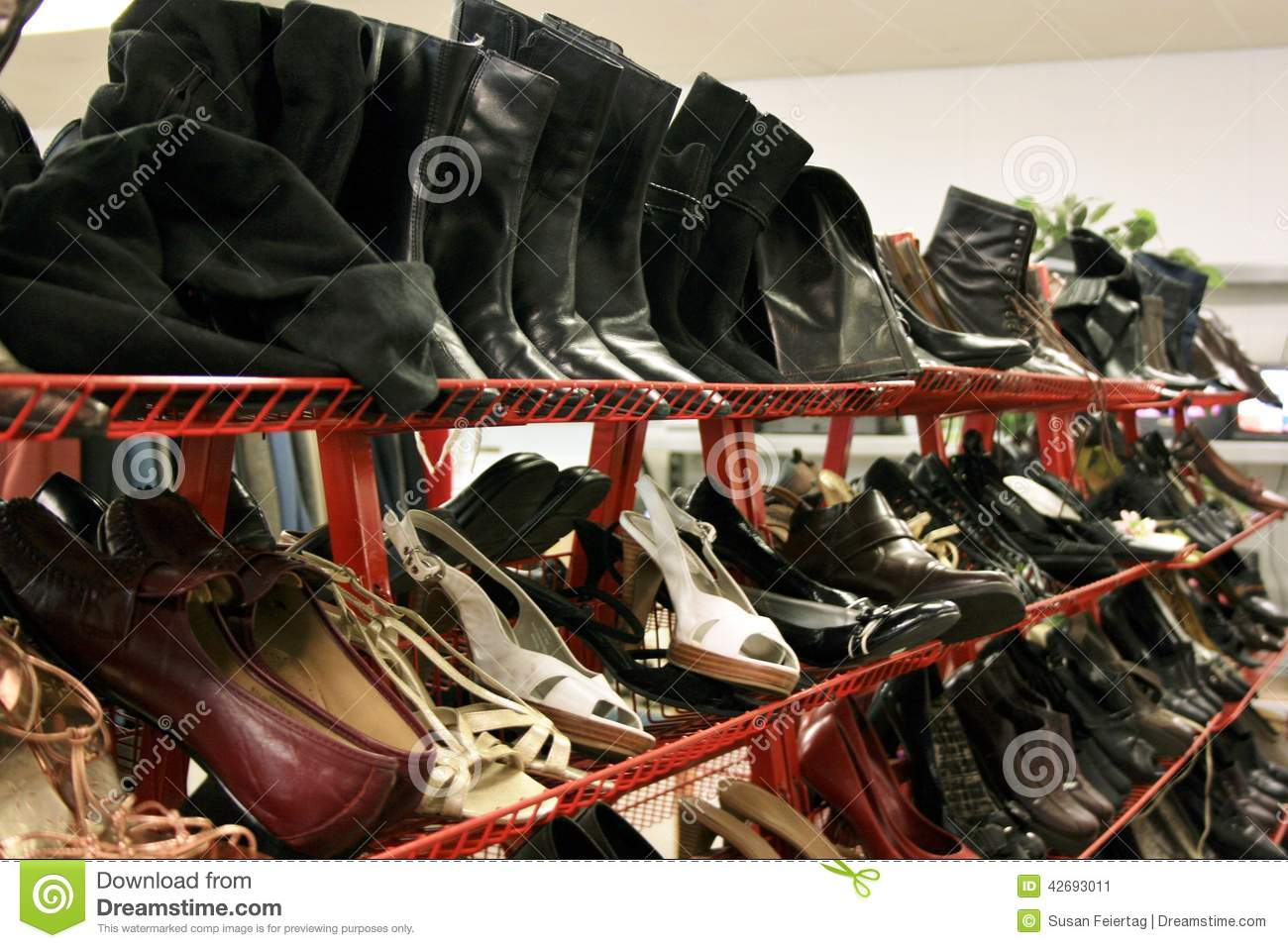 second hand shoe rack stock photo image 42693011