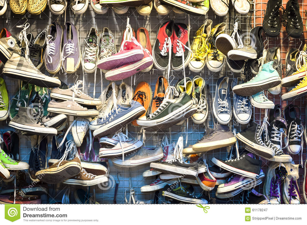 Second-hand Trainers At Chatuchak Market, Bangkok ...
