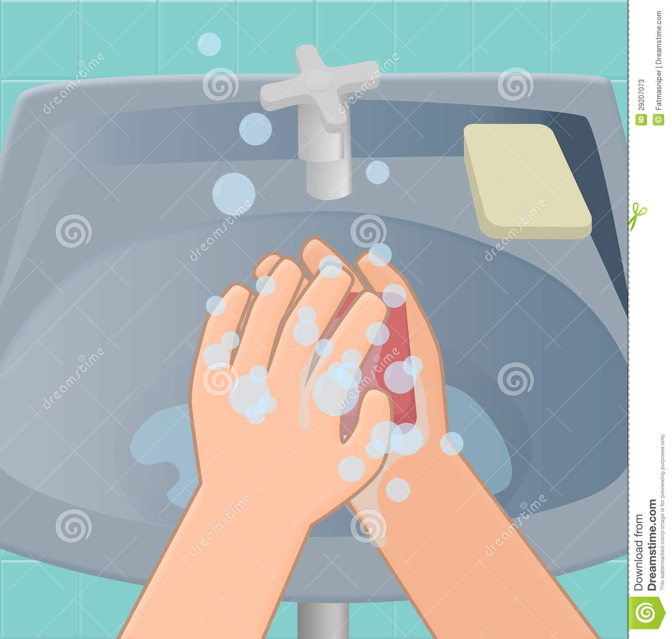 Second hand washing stages