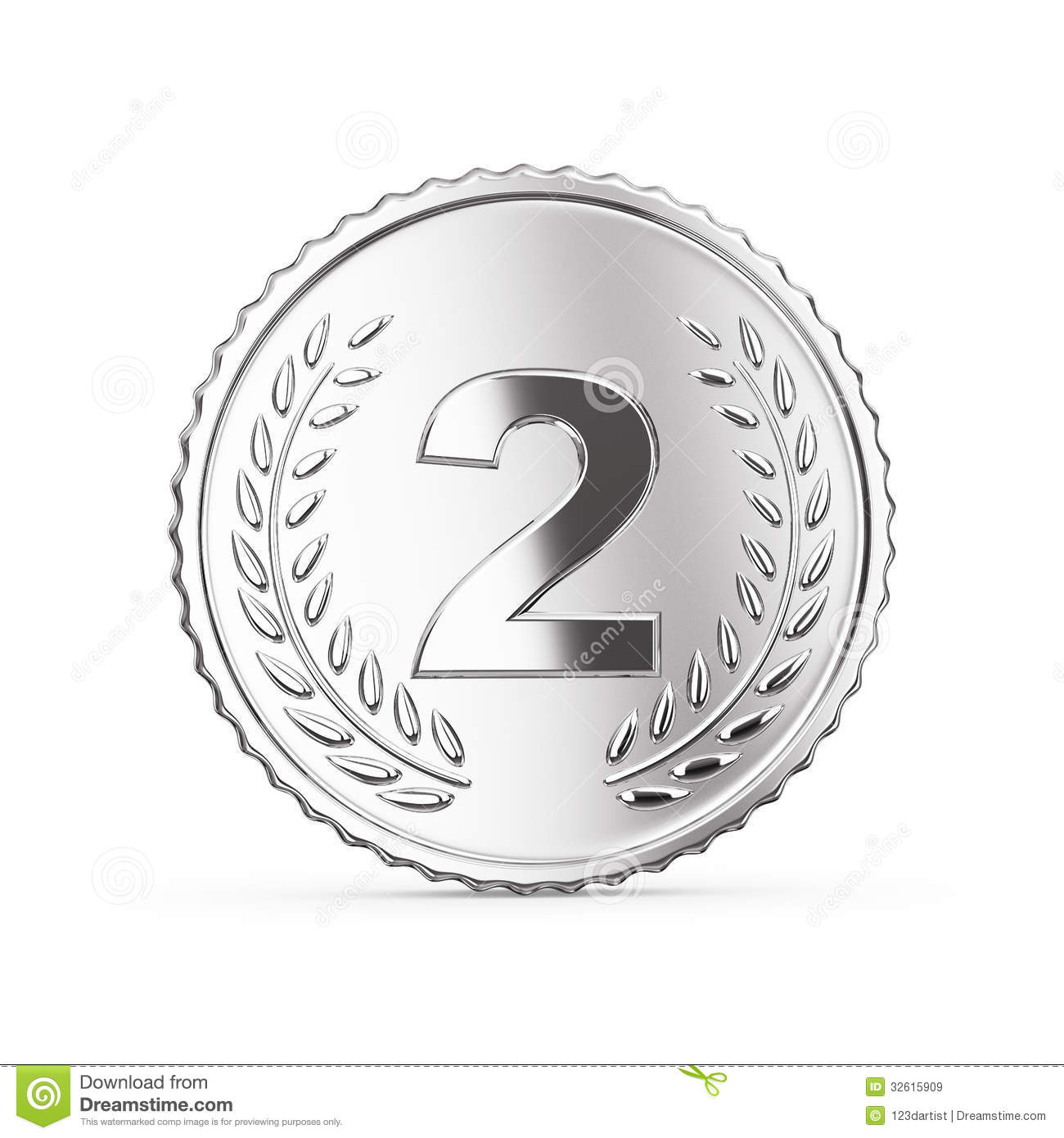 Second Place Medal Render Royalty Free Stock Images ...