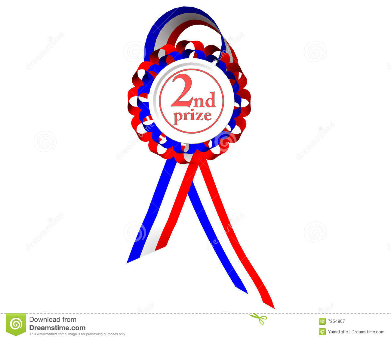 Second Prize Medal Royalty Free Stock Photography Image