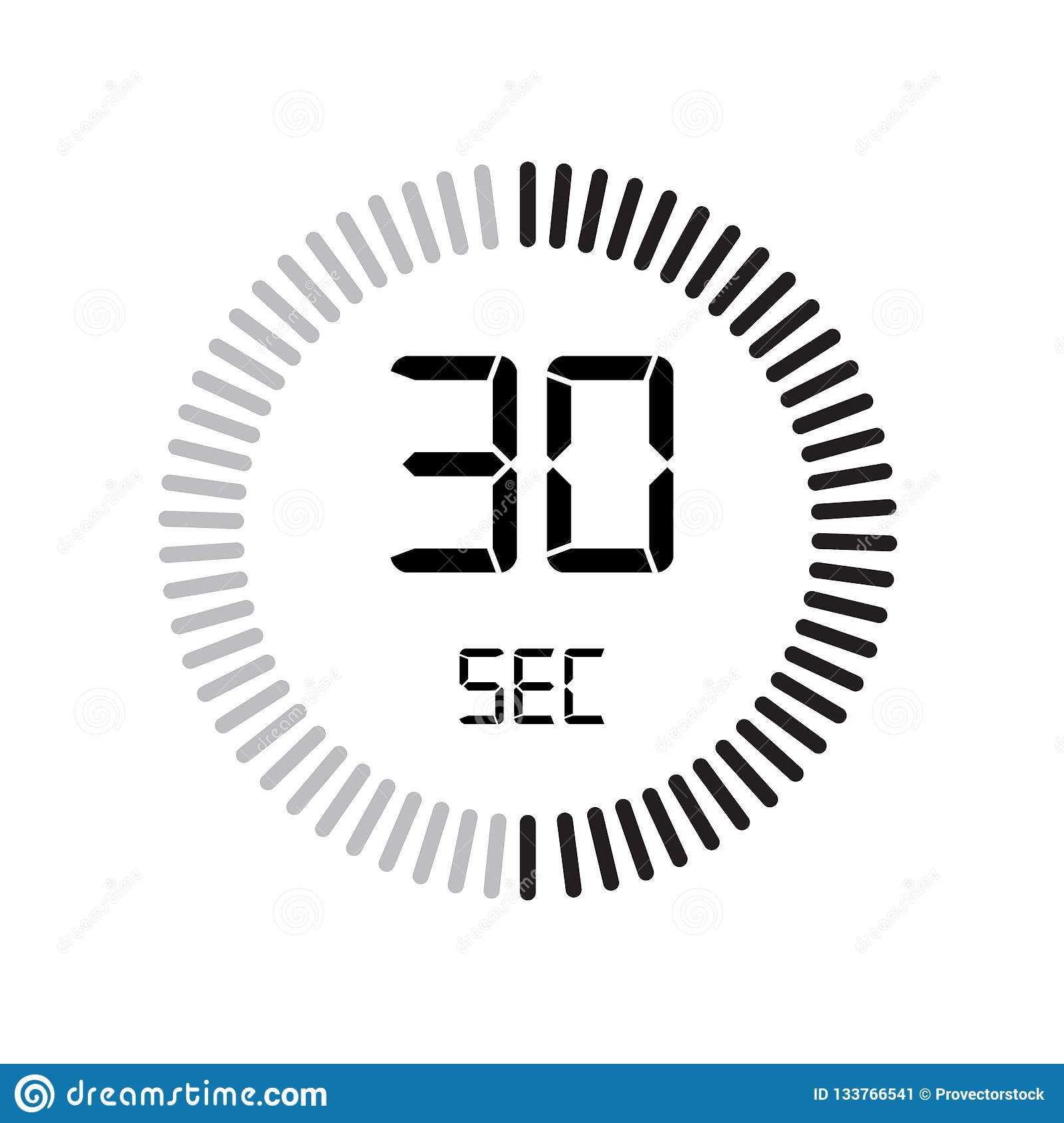 The 30 Seconds Icon, Digital Timer. Clock And Watch, Timer ...