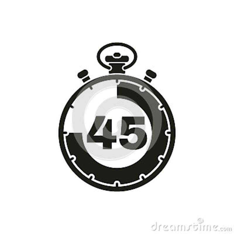 The 45 Seconds, Minutes Stopwatch Icon  Clock And Watch, Timer
