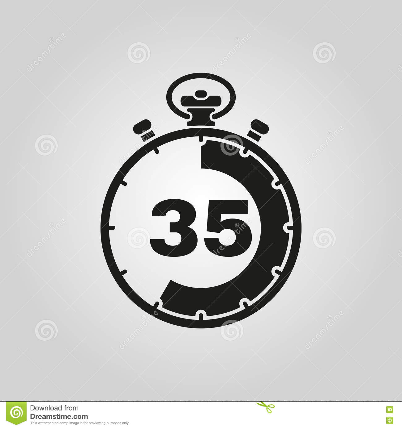 the 35 seconds minutes stopwatch icon clock and watch timer
