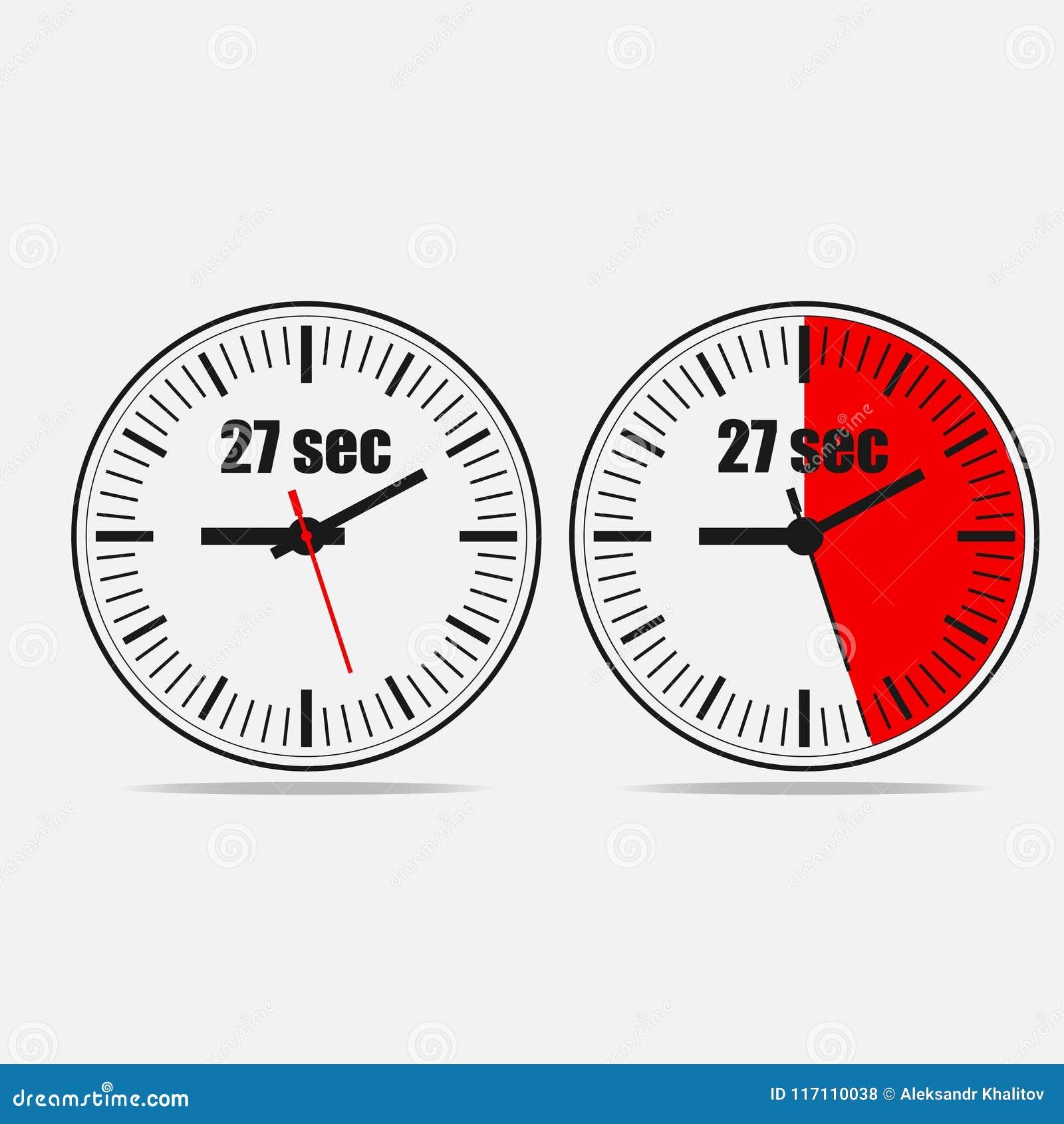 27 seconds timer stock illustration illustration of flat 117110038