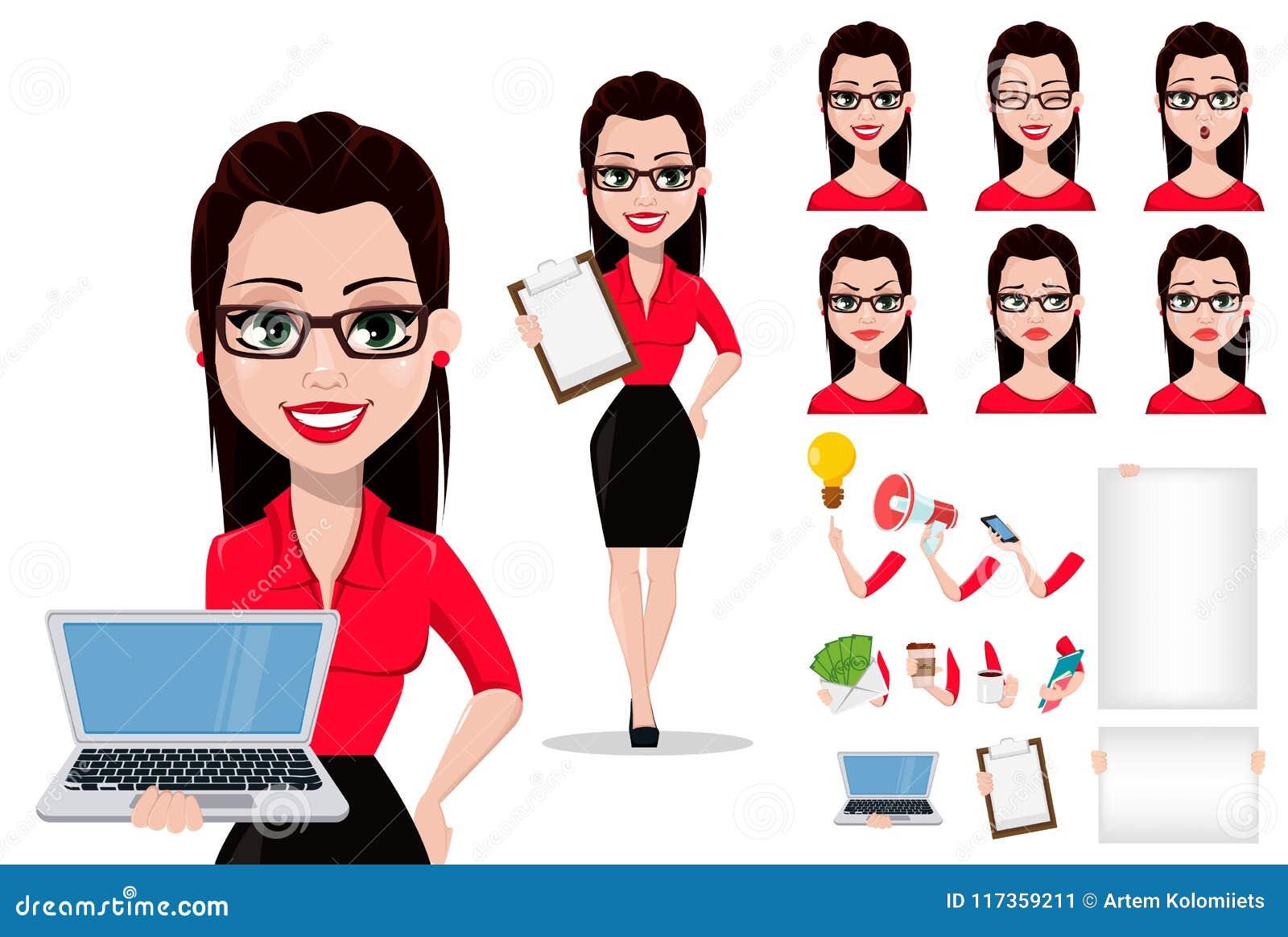 Secrétaire dans des vêtements de style de bureau