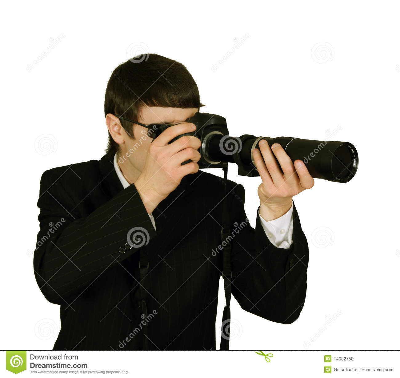 The World S Best Photos Of Guns And Spy: Secret Agent Spy With Camera Stock Photo