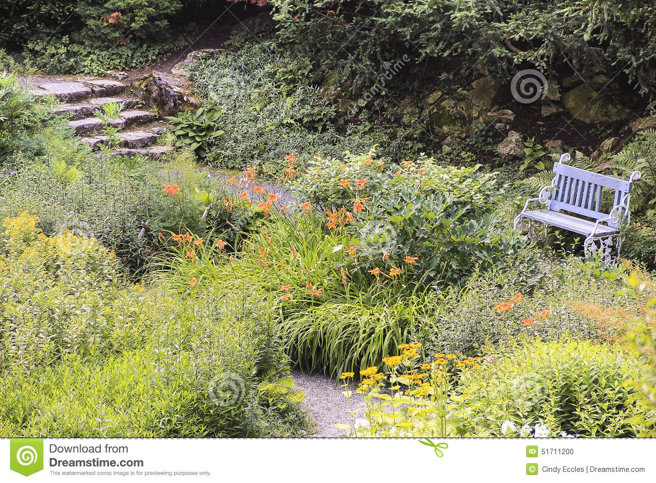 Excellent Secret Garden And Bench Stock Photo Image Of Stepping Andrewgaddart Wooden Chair Designs For Living Room Andrewgaddartcom
