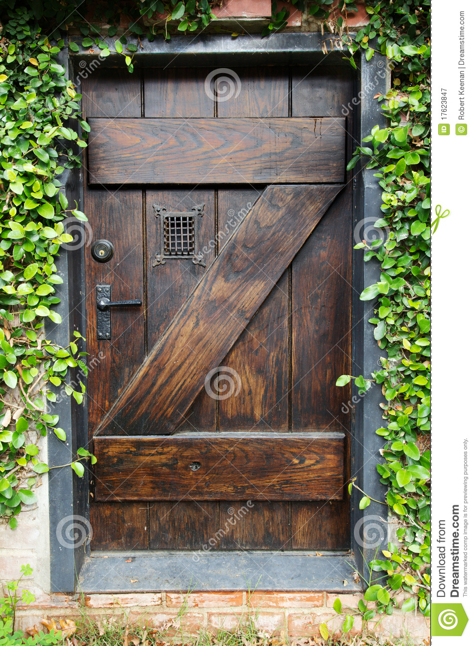 Secret Garden Door Royalty Free Stock Photography Image