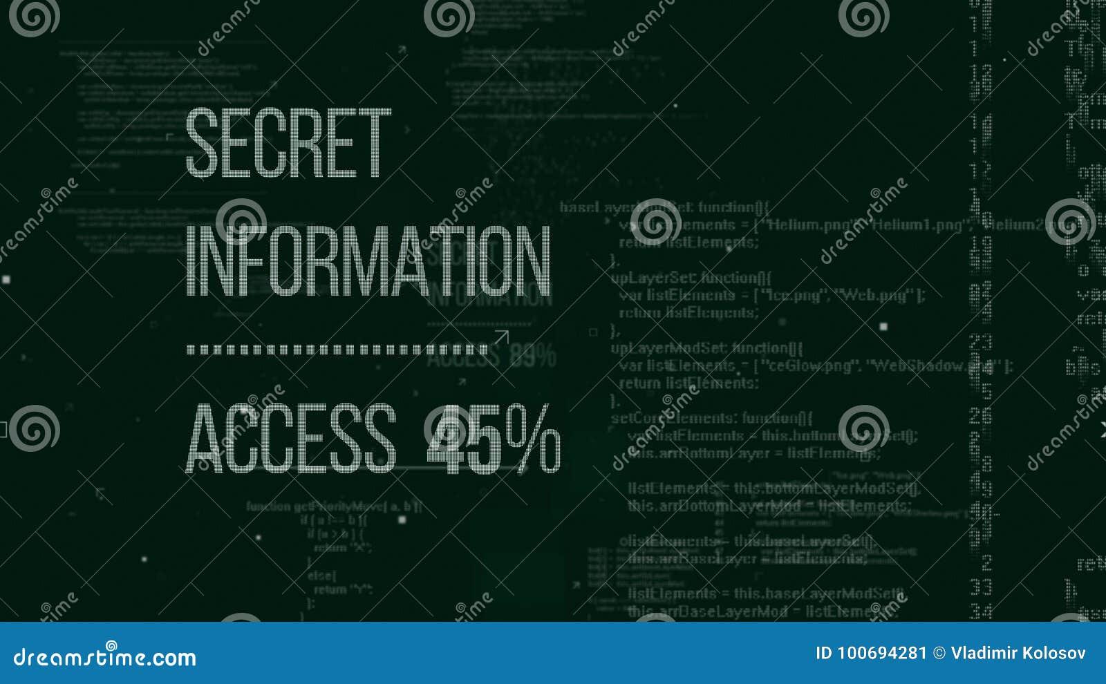 Secret Hackers Code Illustration Stock Illustration - Illustration